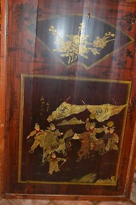 Chinese Framed Bamboo Panel Hand Painted 26 x 38 C 1930 Artist Signed  #1211111H