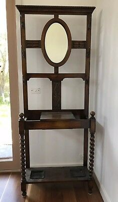 Antique Old English Oak Hallstand circa 1910-20 - Excellent Condition