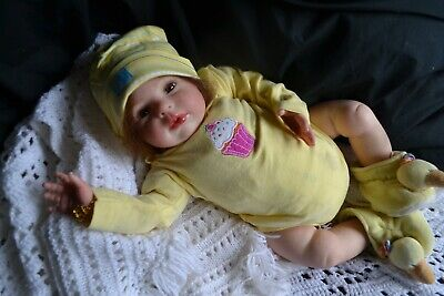 Sweet Reborn Baby GIRL Doll HOPE was Honey by Donna RuBert COMPLETED baby