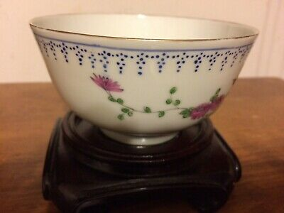 Vintage chinese hand-pianted small bowl/2 small dish