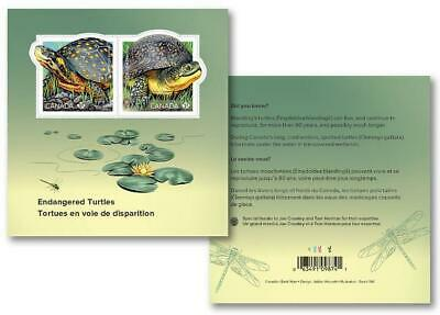 2019 Canada ????ENDANGERED TURTLES SOUVENIR SHEET ????2 Stamps - Beautiful Sheet