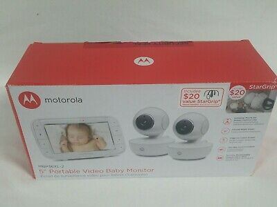 "Motorola 5"" Portable Video Baby Monitor with Two Cameras MBP36XL-2"