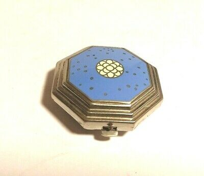 Art Deco Richard Hudnut Le Debut Periwinkle Cloisonne Double Compact in box!