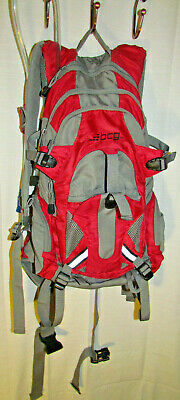 BCG Backpack H2o Red Hiking Camping Hydration 3Liter Pack Bicycle Trail Ruksak