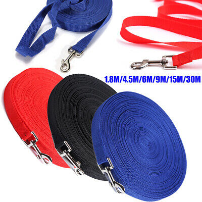 1.8/4.5/6/9/15/30M Long Dog Pet Puppy Training Obedience Recall Lead Leash Local