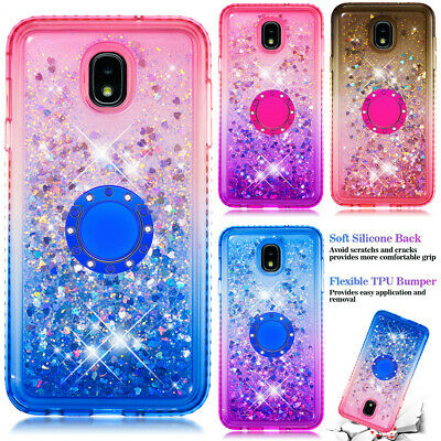 Glitter Liquid Quicksand TPU Ring Case for Samsung Galaxy A20 A30 A6 A7 A9 J4 J6
