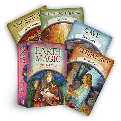Magic Oracle Cards Earth Magic Read Fate Tarot 48 cards Deck & Guidebook Set ZE