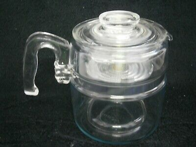 Vintage Pyrex 6 Cup Coffee Perculator - Complete And In Vgc