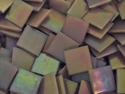 Lilac Iridised Glass Mosaic Tiles 2cm - Art Craft Supplies