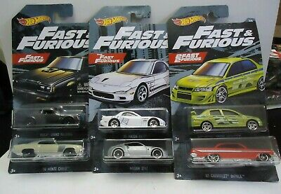 2019 Fast And Furious Set of 6 Walmart Exclusive New Buick Grand National