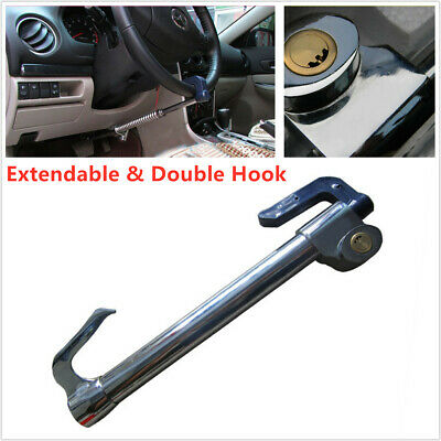 Extendable Double Hook Auto Car Anti-Theft Security Rotary Steering Wheel Lock