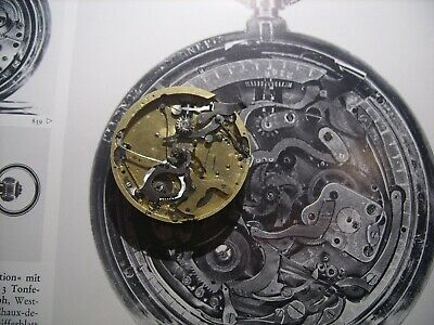 Minute Repeater Chronograph Pocket Watch Movement Swiss to Complete or Parts