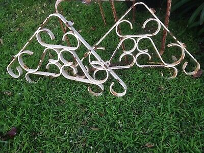 Vintage Wrought Iron Corner Pieces