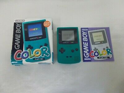 [Free ship] Nintendo Game Boy Color console Blue GBC Boxed Japan