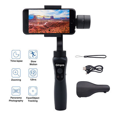 UK Stock Smartphone Gimbal Stabilizer 3-Axis 210g Payload Tracking Time-lapse