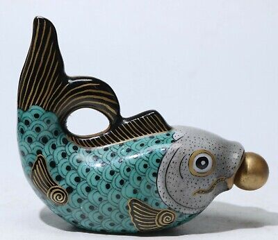Chinese Exquisite Porcelain fish snuff bottle