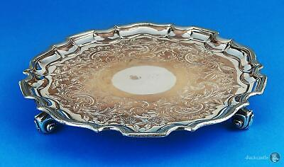 Smart GEORGE III OLD SHEFFIELD PLATE Footed SALVER / WAITER TRAY c1810