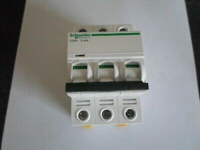 Schneider Electric Acti 9 Ic60H D40A 40 Amp (A9F55340) 10Ka Triple Pole Mcb