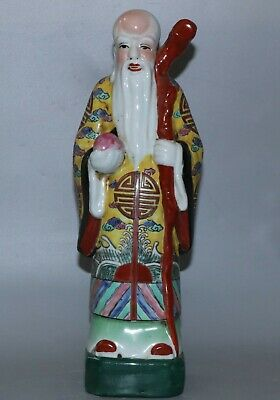 Chinese porcelain carved porcelain statue height 31cm
