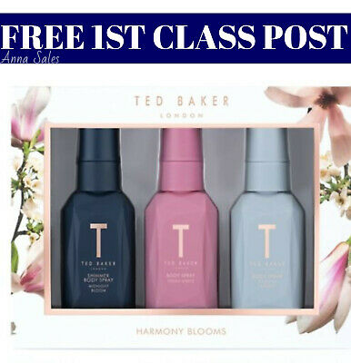 Ted Baker HARMONY BLOOMS Body Spray Trio Ladies Gift Set GET IN 1-3 DAYS