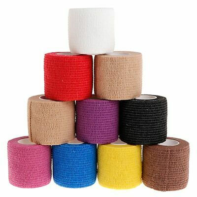 10pcs 5cm Disposable Self-adhesive Elastic Bandage for Handle Grip Tube Tattoo