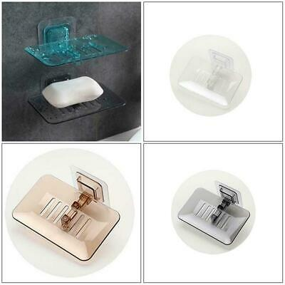 Wall Holder Tray Vacuum Cup Suction Bathroom Rack Saver Soap Dish Shower Holders