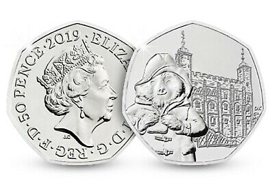 2019 UNCURCULATED PADDINGTON BEAR AT THE TOWER OF LONDON 50p FROM A SEALED BAG