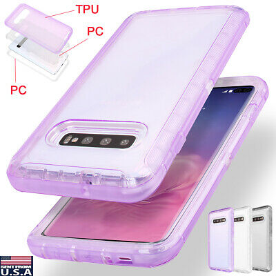 Clear Armor Heavy Duty Shockproof Case Cover For Samsung Galaxy S10+ Plus S10e