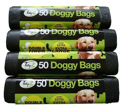 Dog Poo Bags Extra Large Extra Strong Doggy Bag with Tie Handles QTY 50-500 Bags