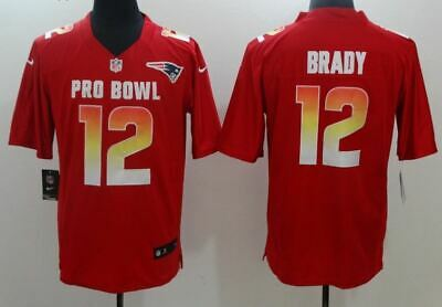 New England Patriots #12 Tom Brady Authentic Stitched Jersey Pro Bowl