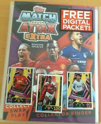Topps Match Attax Extra 2018/19  Binder 163 Cards .L Editions 100 Club 20 Codes