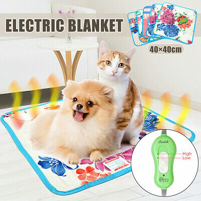 Pet Electric Heated Heating Mat Blanket Cat Dog Heater Pad Bed Waterproof Safe