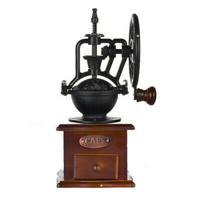 Manual Coffee Grinder Classic Cast Iron Hand Crank Bean Mill Adjustable Grind