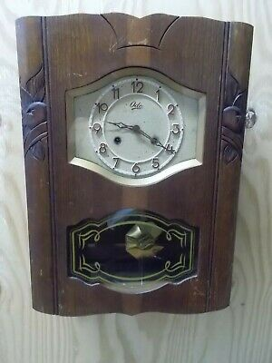 Vintage French Odo Wall Clock Art Deco Look As Found Working
