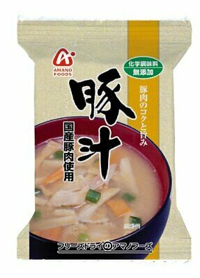 Amano Foods 10 pack Set Additive-Free Instant Miso Soup Pork Vegetables Japan