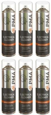 6 x PMA Electrical Contact Cleaner Quick Drying Professional Aerosol 500ml ELCLE