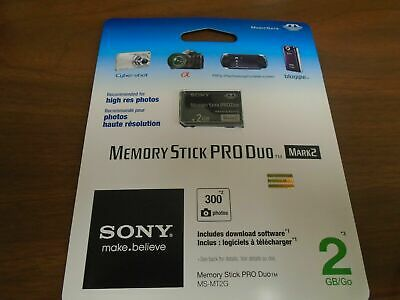 SONY 2GB Memory Stick PRO Duo MS-MT2G MagicGate Retail Package For camera NEW