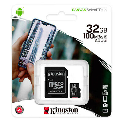 MEMORIA MICRO SD KINGSTON 32 GB CLASE 10 TARJETA CON ADAPTADOR SD HC I 80MB/s