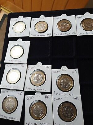 2000 -2003 Thourlands £2coin isle of man in nice circulated condition