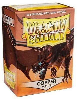 Matte Dragon Shield Standard Size Card Protector Sleeves MTG 100ct Copper box
