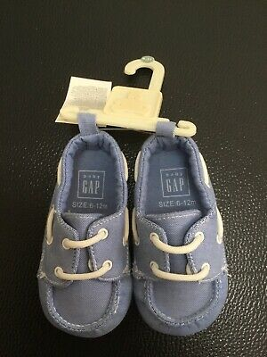GAP Baby Toddler Boys Shoes Size 6 to 12 Months Blue Loafer Style NEW