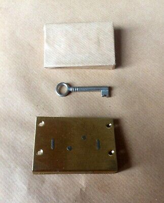 BRASS DRAWER/CABINET LOCK AND KEY ( New Old Stock)