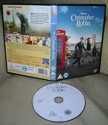 CHRISTOPHER ROBIN DVD Disney 2018 Ewan McGregor Hayley Atwell Jim Cummings!!