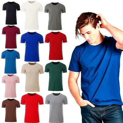 XXR Mens T Shirt Round Neck t shirt Short Sleeve 100% Cotton Plain Men T Shirt