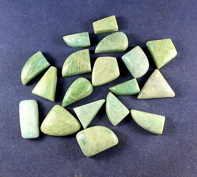 Mix Lot Natural 357.80cts Amazonite Smooth Fancy Cabochon Loose Gemstone 18pcs