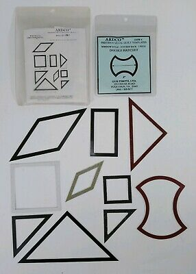 Vintage LOT Assorted ARDCO Precision Window Metal QUILT Quilting TEMPLATES