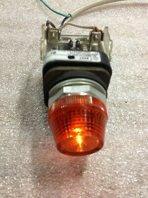 Allen-Bradley 800T-QL10A Pilot Light Yellow Lens LED Lamp 120 Volt