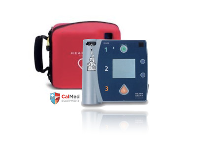 Philips Heartstart FR2 + Aed Défibrillateur 2 An Warranty-New Patins & Batterie