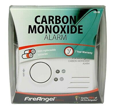 Fireangel CO-9B Carbon Monoxide Fire Alarm Smoke Detector Portable Home Safety