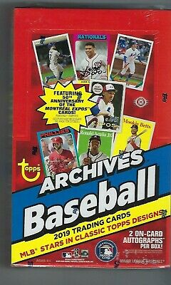 2019 Topps Archives Baseball Hobby Box Factory Sealed